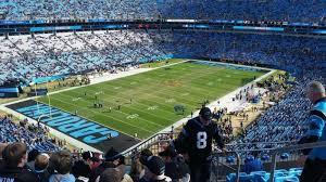 Carolina Panthers Seating Chart With Rows Bank Of America Stadium Section 550 Row 5 Seat 2 Carolina
