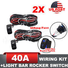 tuff led wiring harness 2pcs 12ft one to two led light bar wiring harness kits relay fuse rocker