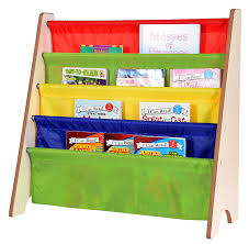 amazon naomi home kids toy sling book rack primary colors natural kitchen dining