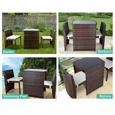 3pcs patio furniture wicker rattan