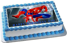 Spiderman 1 Edible Birthday Cake Topper