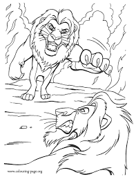 The Lion King Simba Fights Against Scar Coloring Page