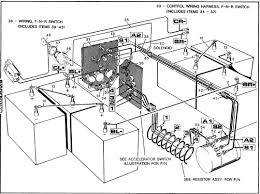Wiring diagram for ez go golf cart with to electric