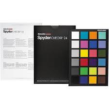Colour Chart Video Datacolor Spydercheckr 24 Color Chart Hire