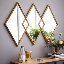 mirror. Exellent Mirror Overlapping Diamonds Mirror Mirror  Throughout