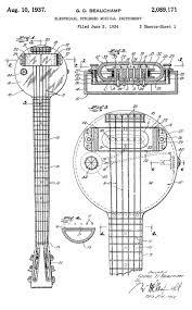 Lap Steel Guitar Design Construction Diagrams Of Rickenbacker Lap Steel Guitar Design From 1934