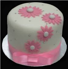 Fk House Of Delights Simple Pink Fondant Cake