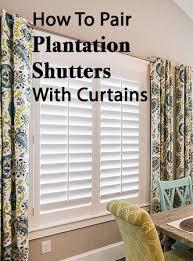 window shutters with curtains. Wonderful Curtains How To Pair Plantation Shutters With Curtains  Wasatch Shutter Design Inside Window