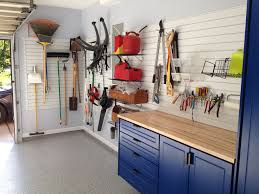 slatwall panels slatwall accessory tool storage paired with powder coated blue garage cabinets