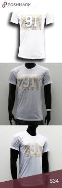 Armani Exchange Gold Logo Mens White Slim Fit Armani