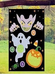 [28% OFF] <b>Halloween Outdoor Pumpkin Print</b> Hanging Toss Game ...