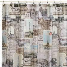 vintage shower curtain. Vintage Paris Shower Curtain A