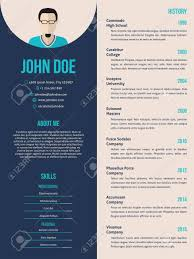 New Curriculum Vitae Cv Resume Template Design Royalty Free Cliparts ...