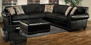 sectional sofa with nailhead trim black sectional sofa with trim hathaway leather sectional with nailhead trim