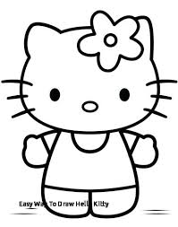 Drawing Pictures Of Hello Kitty Easy Way To Draw Hello Kitty