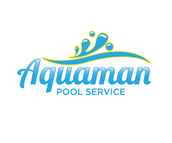 pool cleaning logo. Simple Pool Aquamanpoolservicelogodesign In Pool Cleaning Logo S