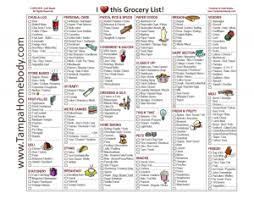 grocery list template printable grocery list free printable template tampa homebody