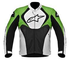 alpinestars alpinestars jaws perforated leather jacket black white green com