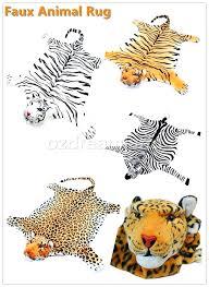 kids animal rug realistic animal skin floor rug kids room tiger zebra leopard by furniture s