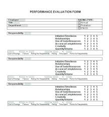 Appraisal Templates New Simple Performance Appraisal Template Personnel Evaluation Template