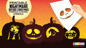 Nightmare Before Christmas Pumpkin Carving Stencils Costume