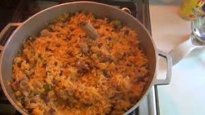 puerto rican rice and beans with chicken. Contemporary With Puerto Rican Rice And Beans Arroz Con Gandules With And Chicken A