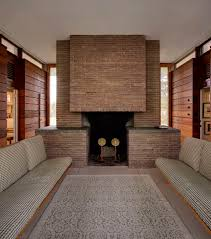 midcentury fireplace in new canaan the small pavilion also houses a dove gray fireplace