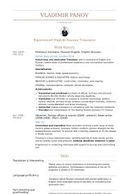 Freelance Translator (Russian English, English Russian). Resume samples