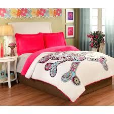 sugar skull bed set punk love velvet plush 3 piece comforter duvet cover sugar skull bed