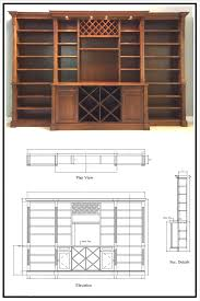 bowed front contemporary wall unit bookcase wine rack