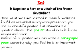 napoleon hero or villain of the french revolution mr d s  napoleon hero or villain of the french revolution