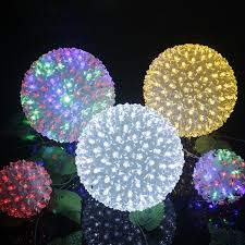 outdoor lighting balls. Dia.20cm Large Flower Led Ball Light Globe Cherry Blossom Tree Fairy Lights  New Year Luminare Home Decoration Halloween H 04-in Holiday Lighting From Outdoor Lighting Balls S