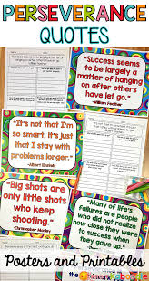 Growth Mindset Perseverance Quotes Posters And Printables