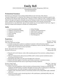 Best Back Of The House And Busser Resumes ResumeHelp Impressive Busser Resume