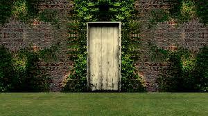 garden door open to a blue screen background stock video fooe storyblocks video