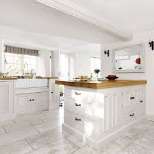 white country cottage kitchen. White Country-style Kitchen With Peninsula | Housetohome.co.uk Country Cottage C