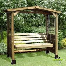 garden swing bench wooden seat wood arbour outdoor furniture pressure treated pc for