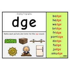 Ending Trigraphs English Ks1 Ks2