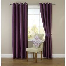 Purple Curtains For Living Room Wilko Faux Silk Eyelet Curtains Plum 167cm X 137cm Spare Room