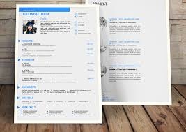 Meetdev Creative Cv Template 22 In Blue Black Original