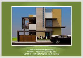 3 bhk home plans and elevation for 30 40 house elevation photos