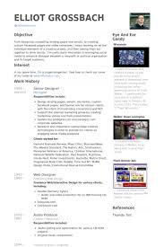 Senior Designer Resume Samples Visualcv Resume Samples Database