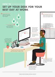 post small home office desk. how to set up your desk for best day at work office cubicleoffice workspacehome post small home f