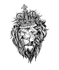 lion drawing. Exellent Drawing Hand Drawn Realistic Lion In Crown Character Illustration And Lion Drawing