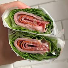when i did hair my take out food of choice was by far the jimmy johns italian night club unwich minus the cheese unwich as in hold the bread you get