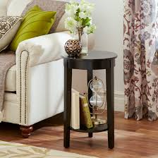 end table decor home decoration round annenberg high tall turner brown wooden with single tier small