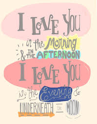 I Love You In The Morning Poster Print Baby Girl Nursery Wall Quote