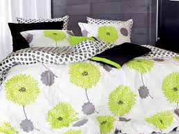 lime green and grey duvet cover