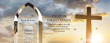 celebrate your pastor with a custom ordination plaque