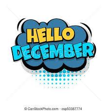 Comic Text Speech Bubble Pop Art Oops Lettering December Month